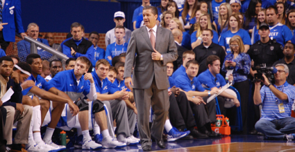 John Calipari will test his team Wednesday against Mississippi State after 11 days of nothing but practice. (Photo by James Pennington)