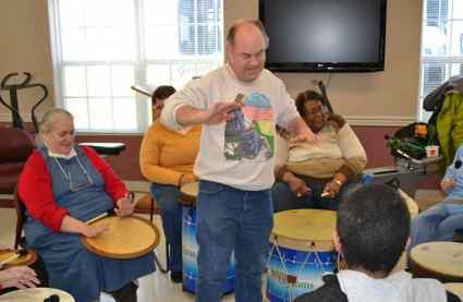 One of the new offerings at the Estill County Senior Center in Irvine is a drumming class called HeartRhythms. Director Darlene McKinney says participants absolutely love it.