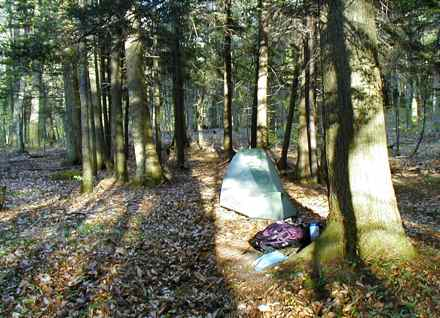"This type of green camping is described as ""leave no trace"" and certainly more green than big Airstream trailers with wifi, television and toilets. (Photo from Wikimedia Commons)"
