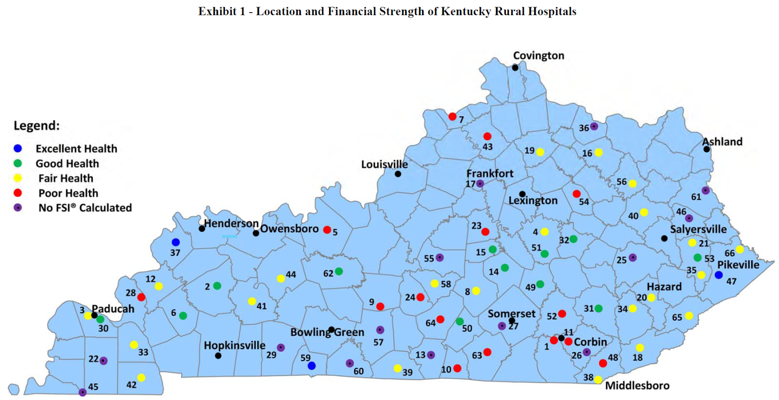 Auditor Third of Kys rural hospitals in poor shape closure may