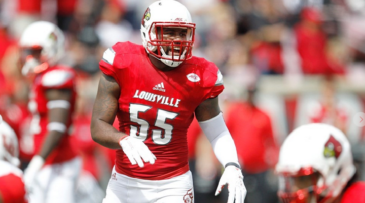 Linebacker Keith Kelsey says Thursday's game against Clemson will show how tough the Cardinals are (UofL Photo by Michelle Hutchins)