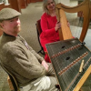 Kyle Meadows and Tisa McGraw make music on the hammer dulcimer and Celtic harp (Photo Provided)