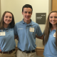 Lauren Spivey, Emily Spivey and Reagan Smith each spend several hours a week giving back and providing support and smiles to those receiving treatment at Albert B. Chandler Hospital (UK Now Photo)