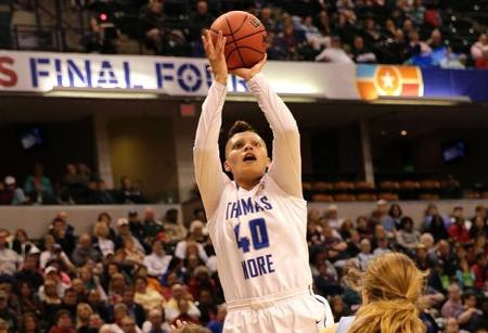 A native of St. Albans, W.Va., this marks the third straight season Moss has been the unanimous National Player of the Year as she earned the honor three times from the WBCA, D3hoops.com and DIII News. All three outlets recognized Moss with first-team All-America honors for the past three seasons as well (TMC Athletics Photo)