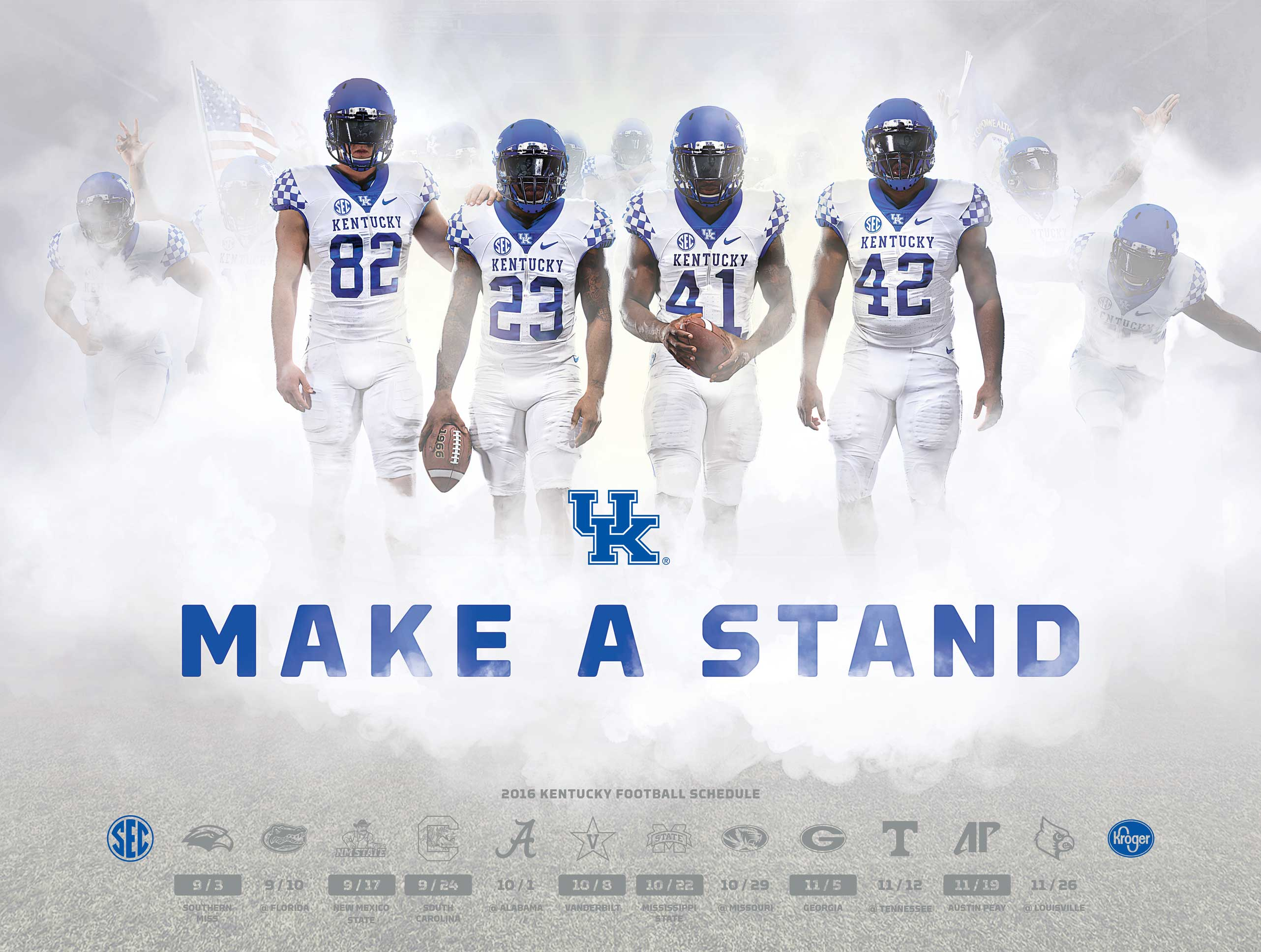 Wildcats' latest football poster honors four players who ...