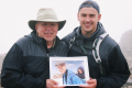 Berry Craig and Berry IV after conquering the Ben Nevis, Britain's highest peak, and recreating a photo from 20 years ago (Photo Provided)