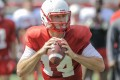Mike White, a native of Fort Lauderdale, Fla., along with senior Tyler Ferguson and sophomore Drew Eckels have been in a tight race to replace All-American Brandon Doughty, now with the Miami Dolphins, through spring and fall practices (Photo by Steve Roberts/WKU Sports)