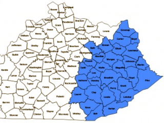 Counties served by Kentucky Homeplace are in blue