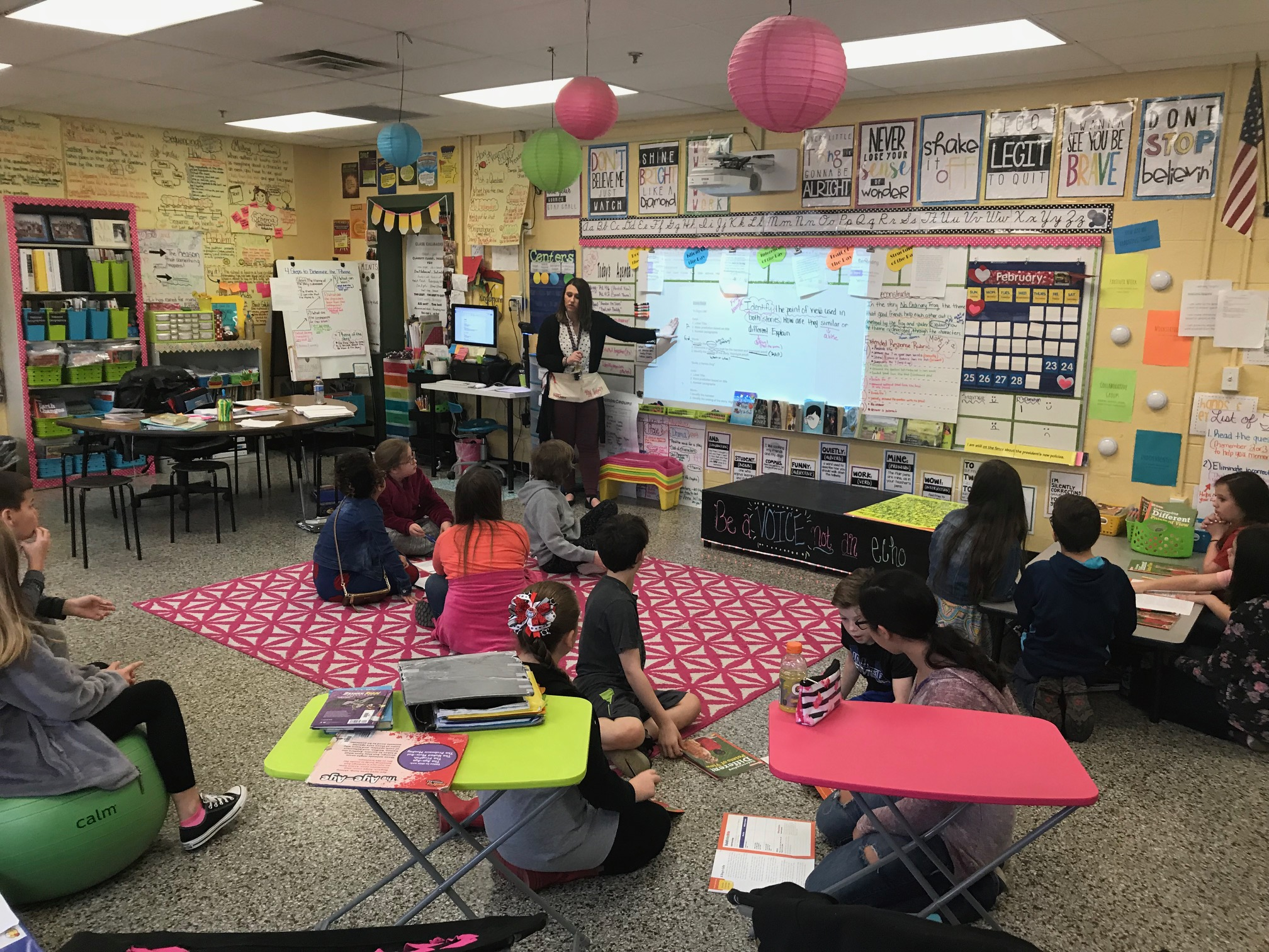 Elementary School Classrooms ~ Ron daley day in lawrence county elementary classroom