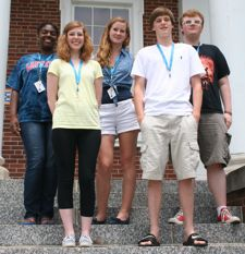 The 2013 GSE participants from Fayette County Public Schools were Montazia Brown (left), Ariel Norvell, Esther Putman, Paul Johnson and Ethan Petraitis. (Photo from FCPS)