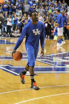 John Wall warms up before the alumni game. (Photo by Jon Hale)