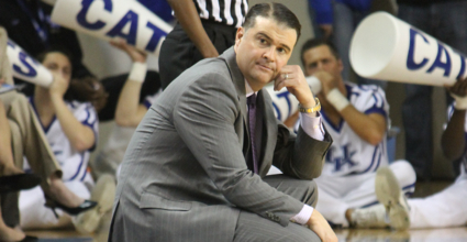 Kentucky women's basketball coach Matthew Mitchell has taken the Wildcats to new heights in his seven years at UK, including 27 straight weeks in the top 10 of the Associated Press top 25. (Photo by Jon Hale)