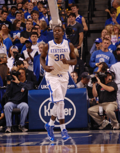 Kentucky somehow flourished in the second half without Julius Randle. (Photo by James Pennington)