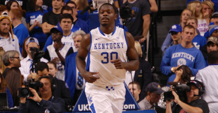 Julius Randle had XX points and XX rebounds in No. 13 Kentucky's XX-XX win at Arkansas on Tuesday. (File photo by James Pennington)