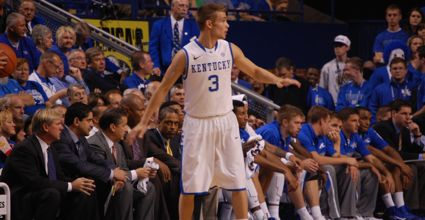 Jarrod Polson is one of a handful of Kentuckians who could check in to Friday's Sweet 16 game between Kentucky and Louisville. (Photo by James Pennington)
