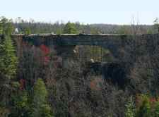 Geographical features such as Natural Bridge are popular nationally as well as locally.