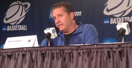 Kentucky coach John Calipari is at his liveliest, at least in the media, this time of year. (Photo by James Pennington)
