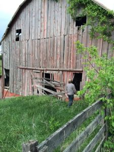 Travis visits his grandparents' farm near Castlewood, Virginia. (Photo from The Daily Yonder/Kendra Bailey Morris)