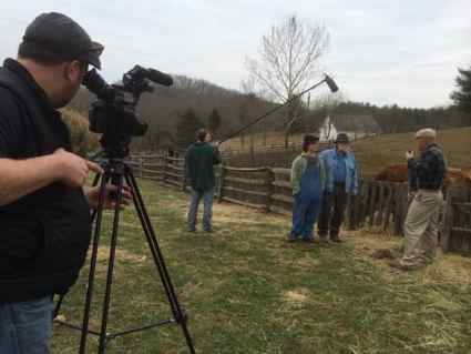 The crew on location in Paintsville (Photo provided)
