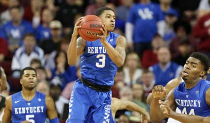 Tyler Ulis had six assists Saturday, five in the first half, against just one turnover (UK Athletics Photo)