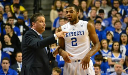 Could guard Aaron Harrison be one of the Wildcats who will leave this summer for the NBA? (Jamie Vaught Photo)