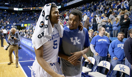 Former UK walk-on EJ Floreal is not only the team's best dancer, he says he's the best dunker, too (UK Athletics Photo)