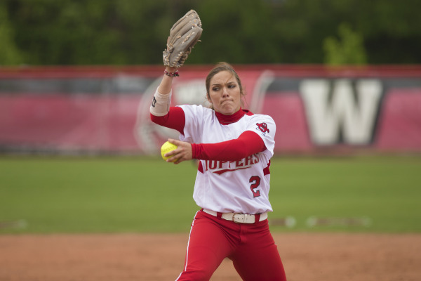 Western Kentucky pitcher Miranda Kramer pitched a no-hitter against Charlotte last week and nearly had another against No. 17 Kentucky (WKU Athletics Photo/Megan Stearman)