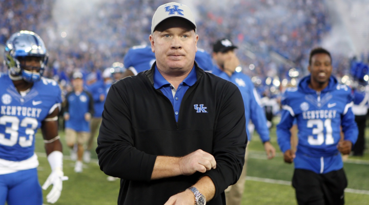 Despite disappointing losses to Florida and Auburn, UK coach Mark Stoops has the Cats on track for a six- or seven-win season and a bowl appearance (UK Athletics Photo)