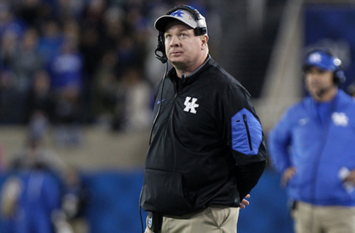 Kentucky coach Mark Stoops and the Wildcats will take on Auburn in a rare Thursday night game this week. Kickoff is set for 7 p.m. on ESPN (UK Athletics Photo)