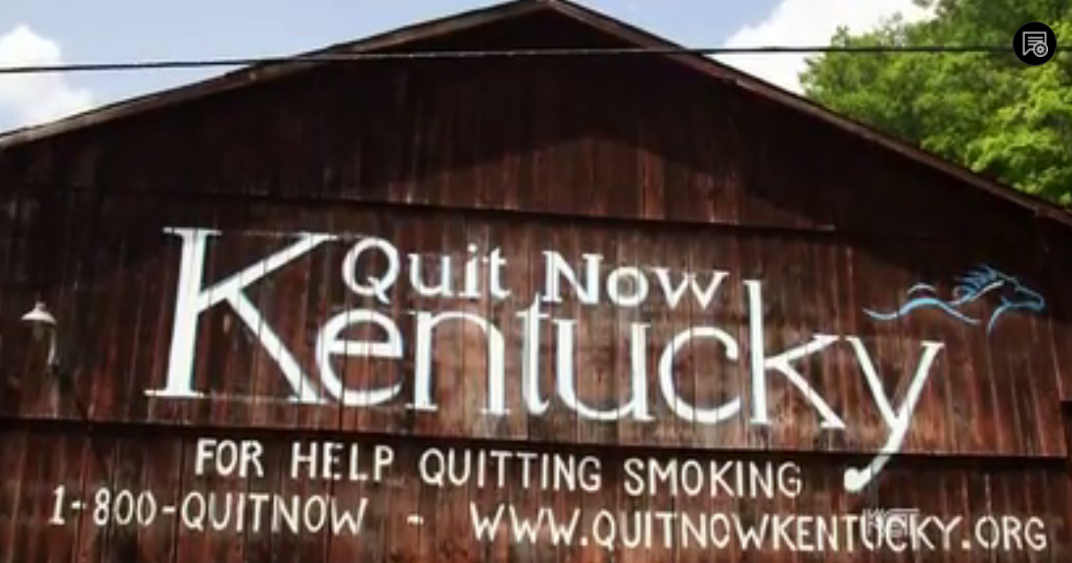 """An old tobacco barn in Magoffin County, seen by thousands daily on the Mountain Parkway, has found a new purpose – to help people stop smoking. It once advertised Mail Pouch tobacco. Abbie Conley,  tobacco coordinator for the county health department, told KET, """"A lot of parents feel like, well, it's not as bad as drug use or not as bad as alcohol. I've even heard of parents buying cigarettes  for their kids."""" Shelia Salyer, the owner of the barn, said that the last tobacco grown on her farm was 12 years ago and smoking has taken a toll on the county: """"I have lost a lot of people I know to smoking, to lung cancer."""""""