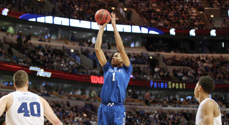 Skal Labissiere, projected as a possible No. 1 pick in the 2016 NBA Draft, is not your typical big man.  Unlike many tall players, he is mobile and fluid with  polished moves around the basket, and shoots like a guard (UK Athletics Photo)
