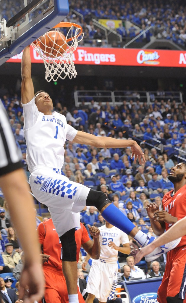 Skal Labissiere scored 26 points to lead all scorers Saturday night (Bill Thiry Photo)