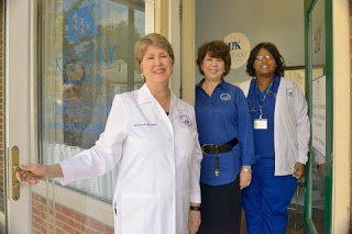 UK College of Nursing faculty members Sharon Lock, Amy Delre and Samantha Gilbert (UKNow photo)