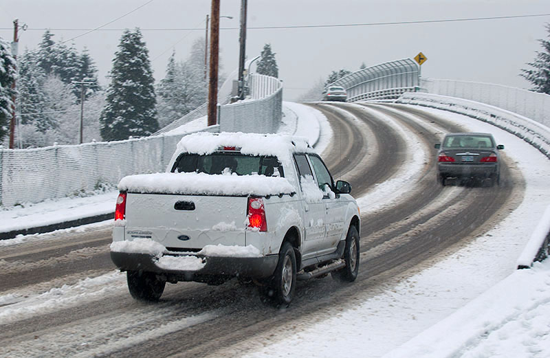 New rear-wheel drive automobiles and trucks handle as well in poor conditions as front-wheel drive models (Creative Commons Photo)