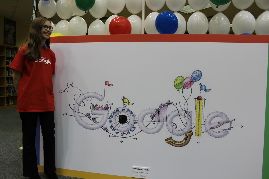 """""""I never expected to make it this far,"""" said Dunbar junior Maggie Cook-Allen, the state winner in the  Doodle 4 Google contest. """"It's incredible my little design could be such a big deal."""" (Photo Provided)"""