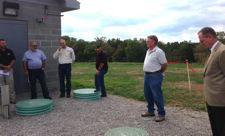 Ribbon-cutting ceremony for the Nicholas County Sanitation District No. 2 treatment facility (Archived photo provided)