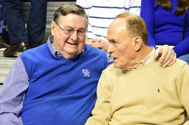 Former LSU coach Dale Brown (right) believes Joe B. Hall didn't get enough credit for the job he did after replacing Adolph Rupp in 1972 (Jamie Vaught Photo)