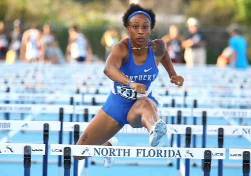 Jasmine Camacho Quinn was named Southeast Region Track and Field Athlete of the Year Monday (UK Athletics Photo)