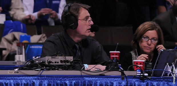 When the 2016-17 school year begins, Chuck Mraz will start his 28th season of play-by-play calls for the MSU football and men's basketball teams (MSU Athletics Photo)