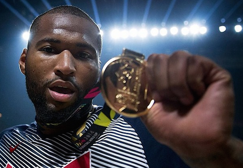 DeMarcus Cousins won his first career gold medal Sunday in the Rio Olympics