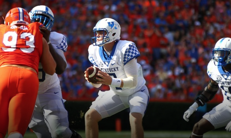 Kentucky quarterback Drew Barker will try to rebound for a 2 for 10 performance against Florida when he leads the Wildcats against New Mexico State Saturday at Commonwealth Stadium (UK Athletics Photo)