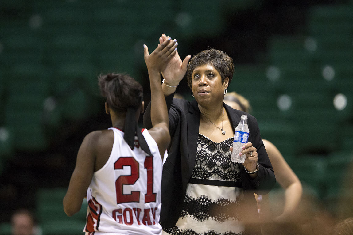 Michelle Clark-Heard (Atherton HS)  was a three-year starter at Atherton HS, Clark-Heard earned All-District, All-Region and All-State honors each of those three seasons for the Lady Rebels (1984-86). She is now head coach of the Western Kentucky women's basketball team (WKU Athletics Photo)