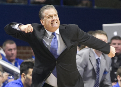 Kentucky coach John Calipari doesn't expect an easy game when the Wildcats take on Michigan State in the State Farm Champions Classic Tuesday night in New York (Tammie Brown Photo)