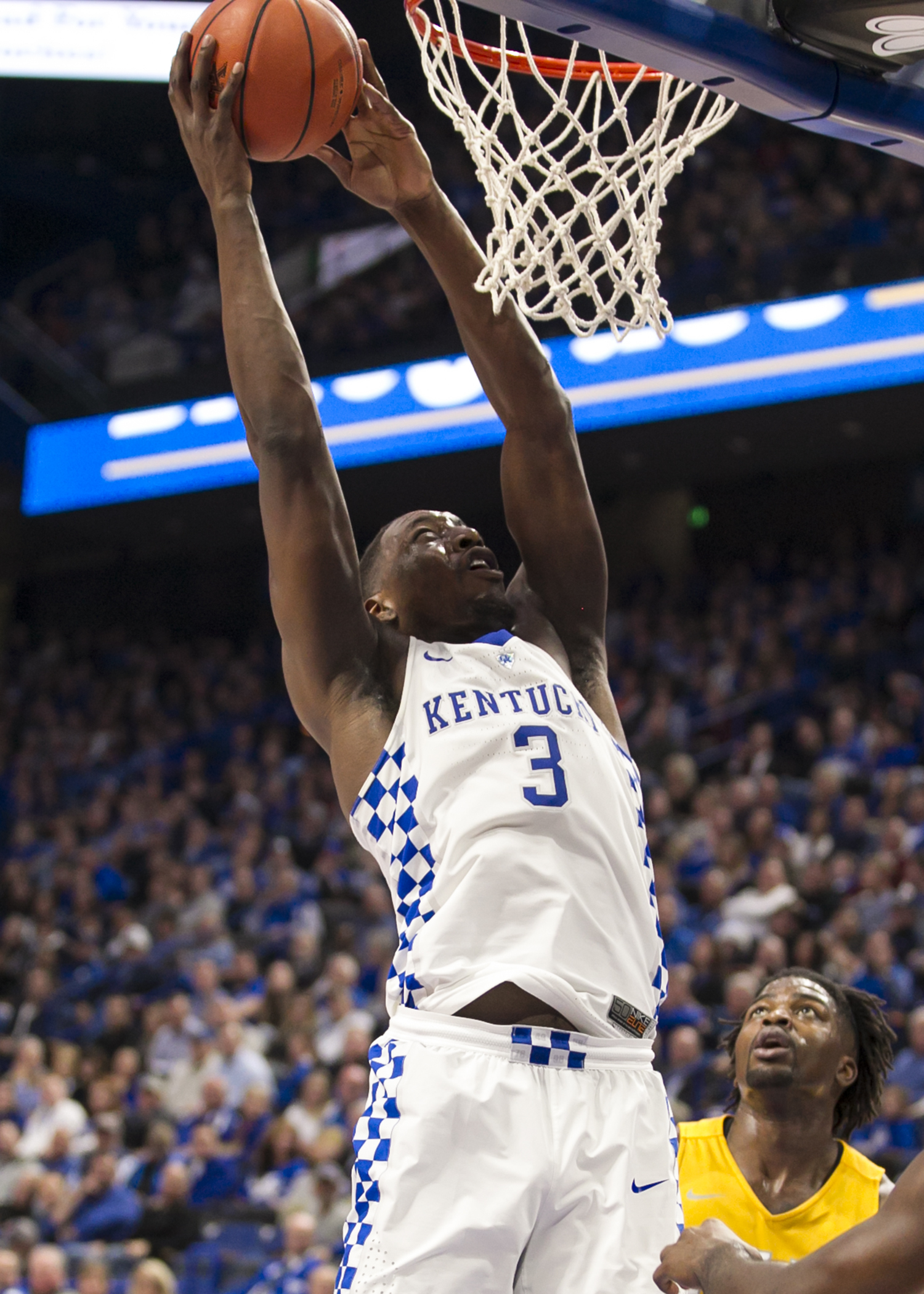 Going into this week's action, Bam Adebayo  is among the leading rebounders in the SEC, ranking No. 4 with an average of 8.0 rebounds. He is also averaging 12.6 points (fourth highest on the squad) and has blocked a team-high 18 shots (Tammie Brown Photo)