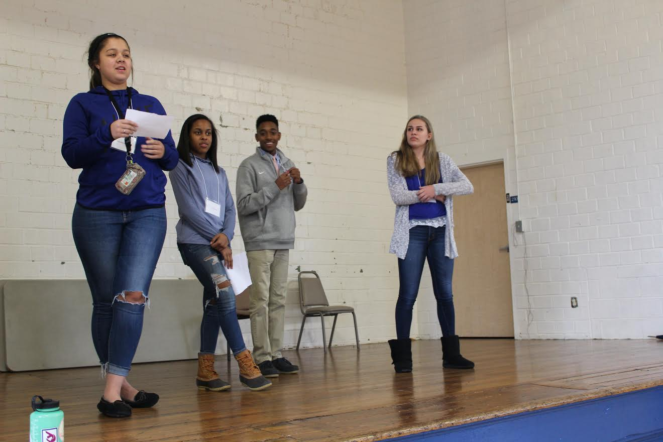 The retreat gave the Lafayette students a chance to brainstorm ideas and different scenarios and to synthesize their core message (Photo Provided)