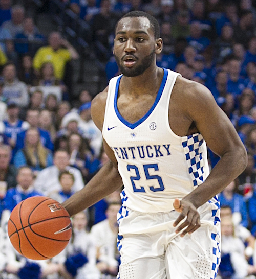 UK guard Dominique Hawkins is in his last semester with the Wildcats (Tammie Brown Photo)