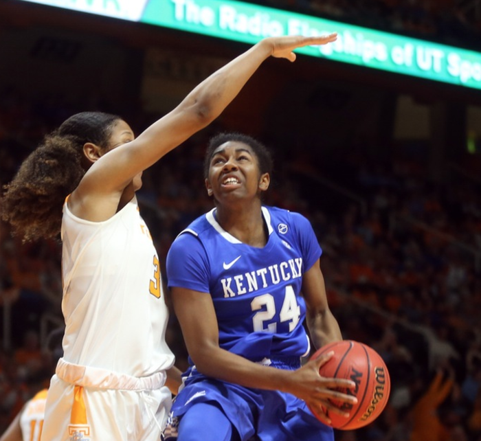Taylor Murray scored a career-high 24 points in UK's loss at Tennessee Sunday (UK Athletics Photo)